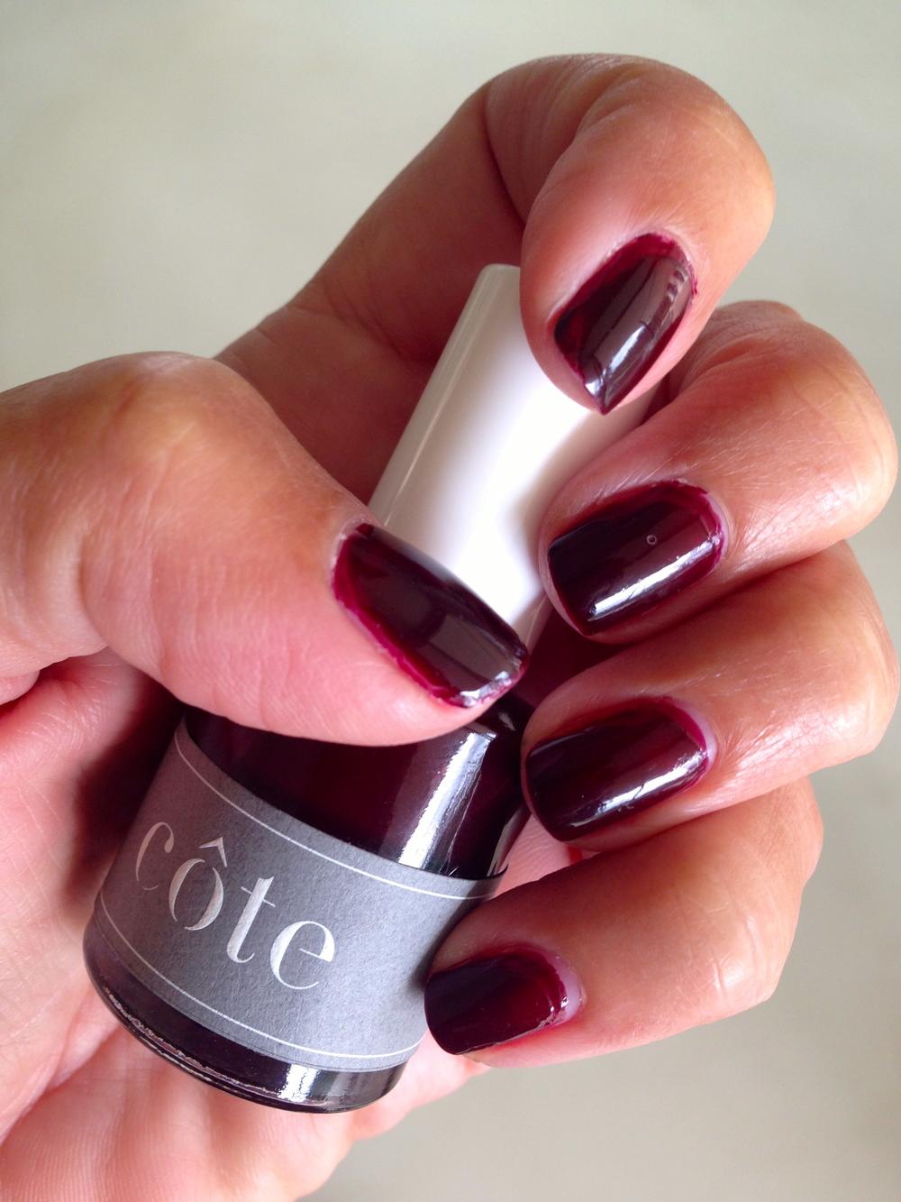 côte polish No. 38 (oxblood).