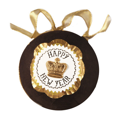 Deluxe Surprize Ball New Years Black, $17.00.