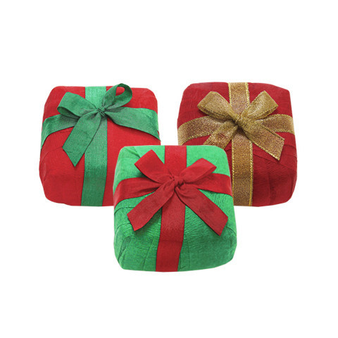 """3"""" mini Surprize Holiday Gift Box, $10. 6 prizes included."""