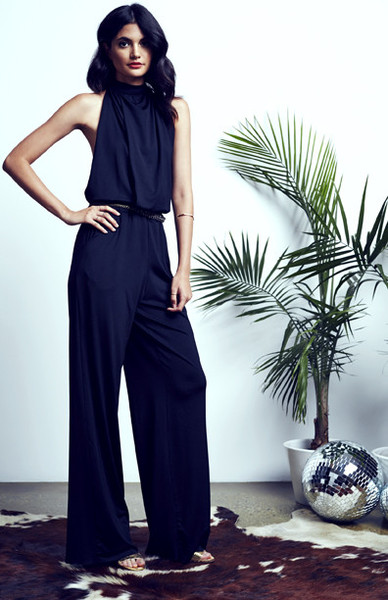 Ripley Rader Cuff Neck Backless Halter Jumpsuit, $220