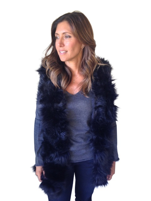 Fur Vest $180 (Available in Black, Beige)