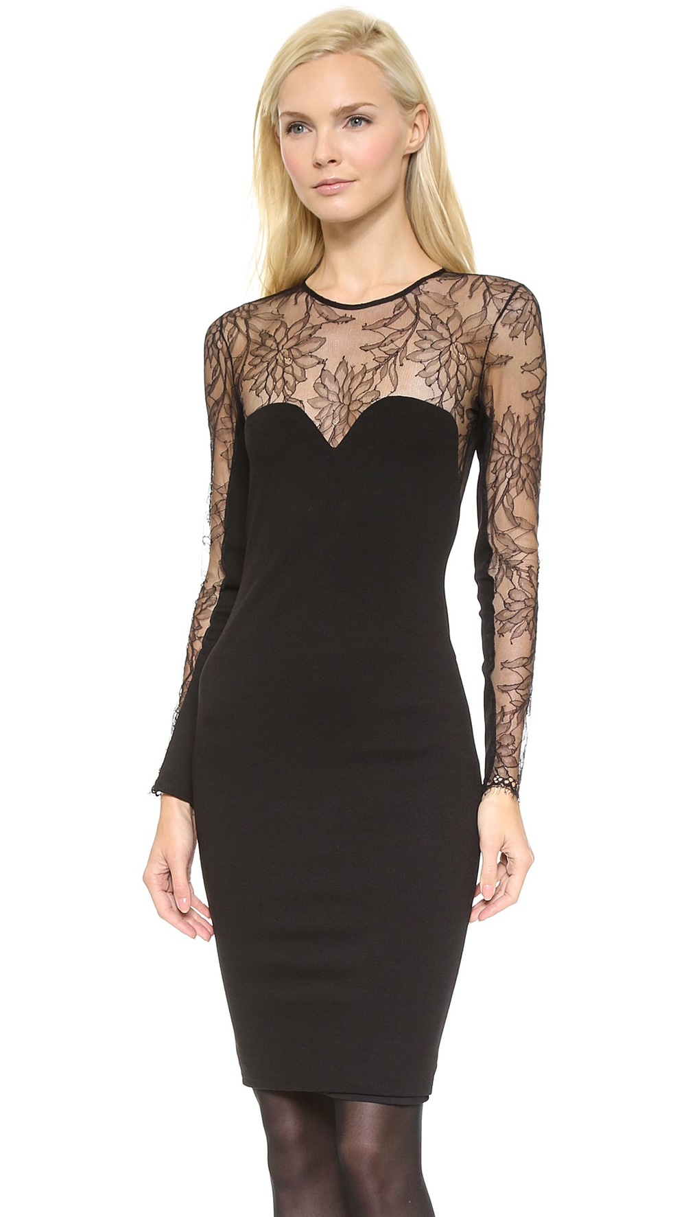 Michelle by Michelle Mason Long Sleeve Ponte Dress, on SALE for $329.