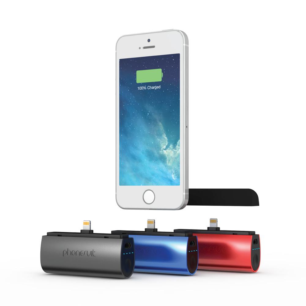 PhoneSuit Flex XT Pocket Charger for iPhone 6, 6 plus, iPhone 5S/5C/5