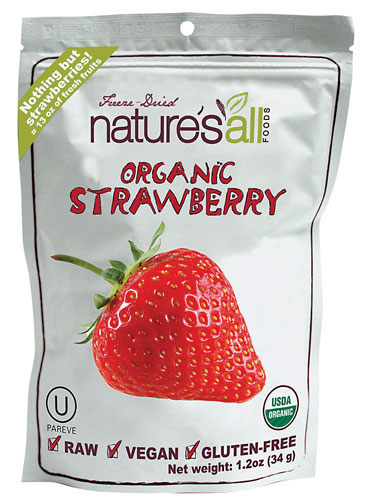 Natures All Foods Freeze Dried Organic Strawberry, $6