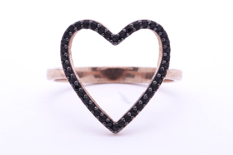 Essie Collection Heart Ring $45 .  Available in sizes 6 and 7