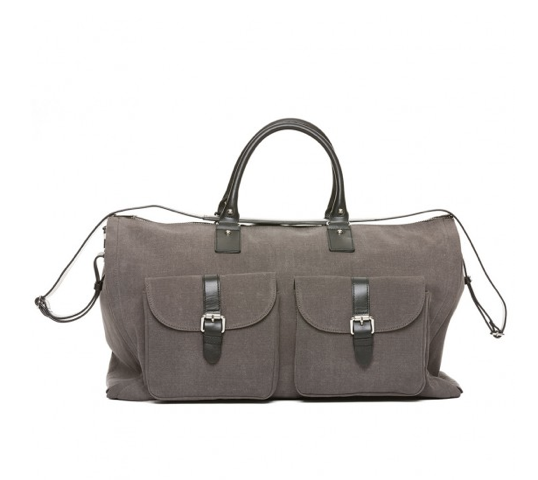 Gray Waxed Garment Weekender - $395.00  by Hook &Albert