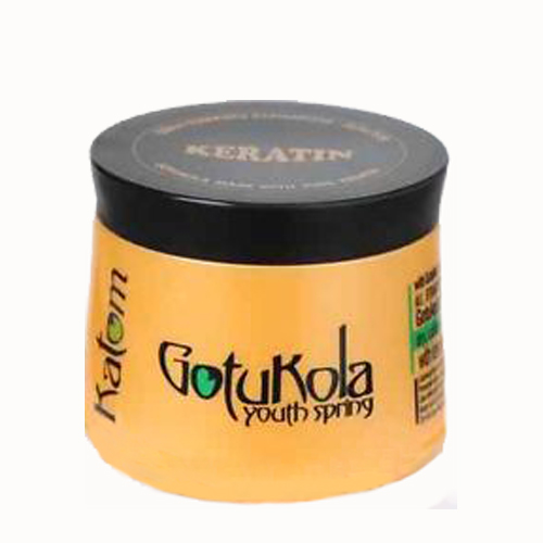 Gotukola mask with pure keratin, $50