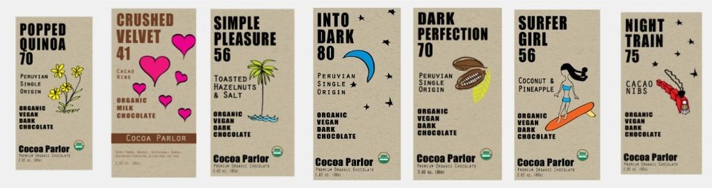 Cocoa Parlor Gift Package of 12 -1.8 oz. bars, $36