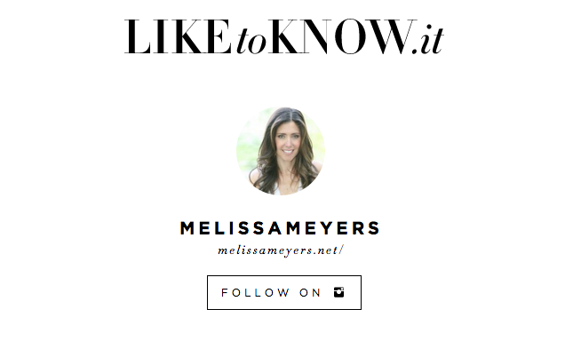 Melissa Meyers Like to Know it