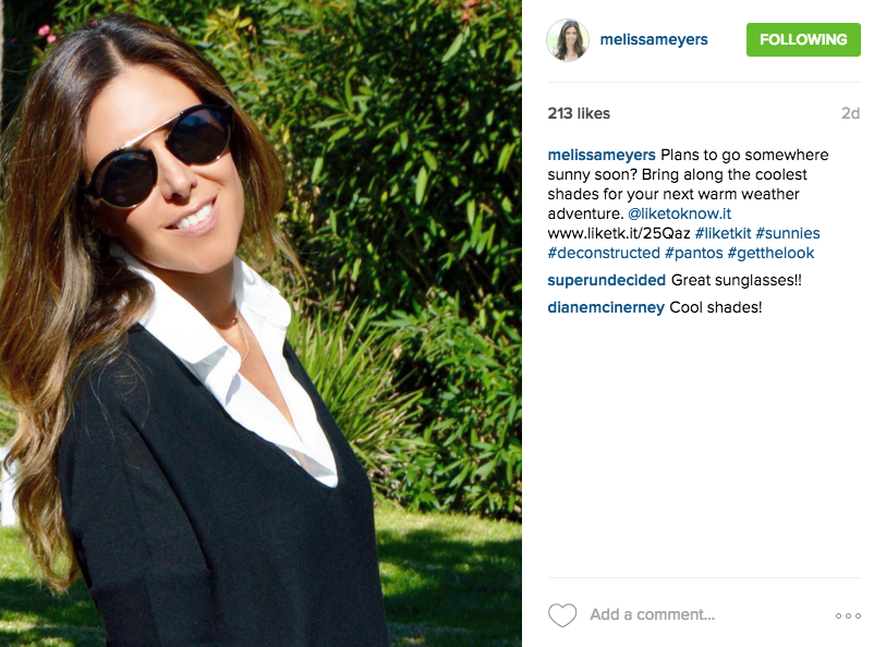 Melissa Meyers Instagram