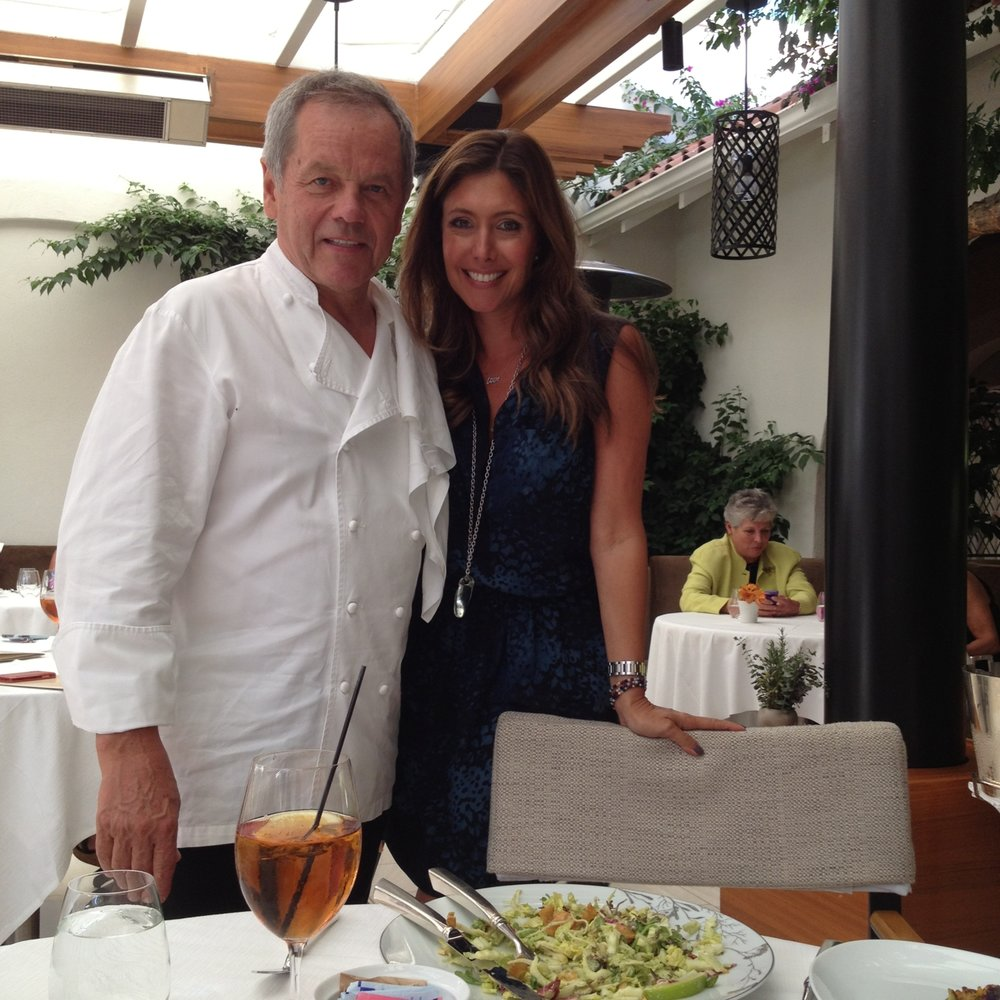 With Wolfgang Puck