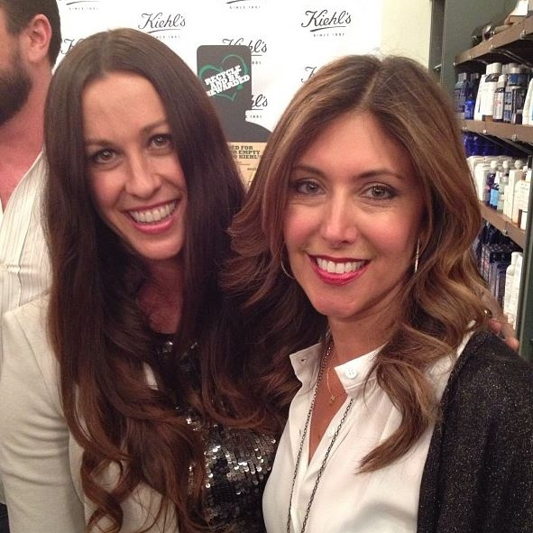 With Alanis Morisette at the Kiehls's environmental party!