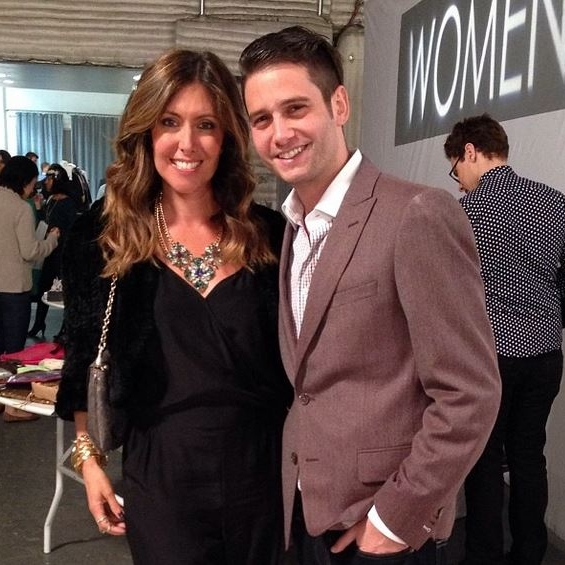 At New York Fashion Week with Josh Flagg from Bravo's Million Dollar Listing LA