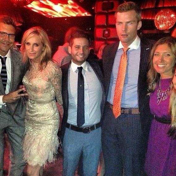 With some of Bravo's most popular faces during New York Fashion Week: Fredrik Eklund, Sonja Morgan, Josh Flagg, Ryan Serhand