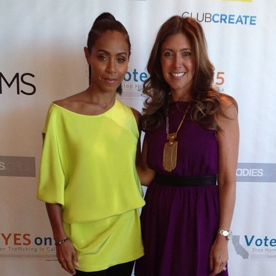 With Jada Pinkett Smith at Soho House LA for event in support of Prop 35.