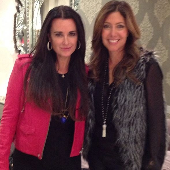 With Kyle Richards at her cocktail event!