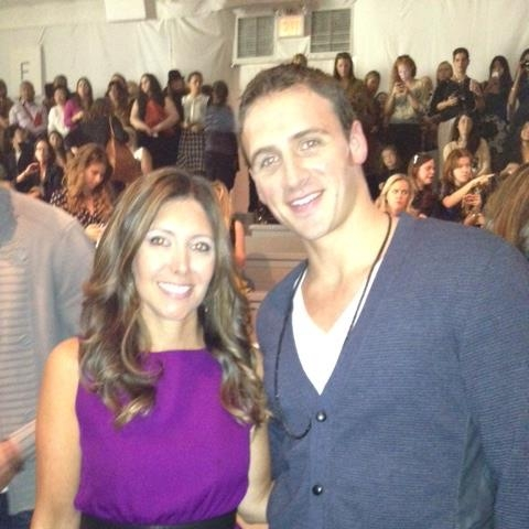 With Ryan Lochte at the Milly fashion show!