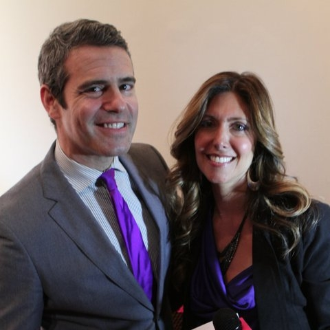 With Andy Cohen at the Boy Meets Girl fashion show