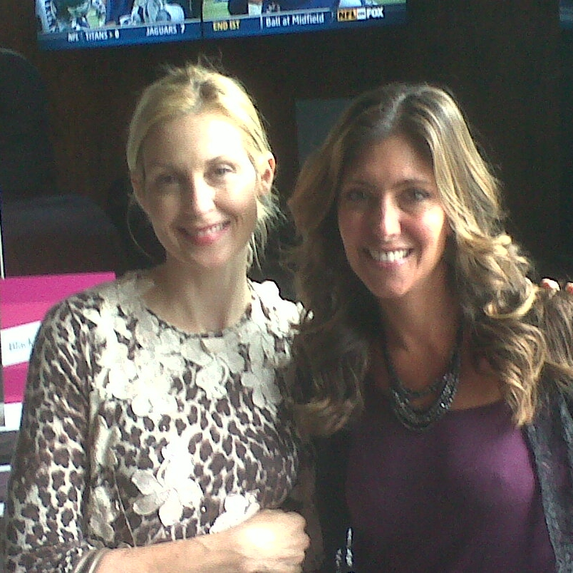 With Kelly Rutherford during fashion week