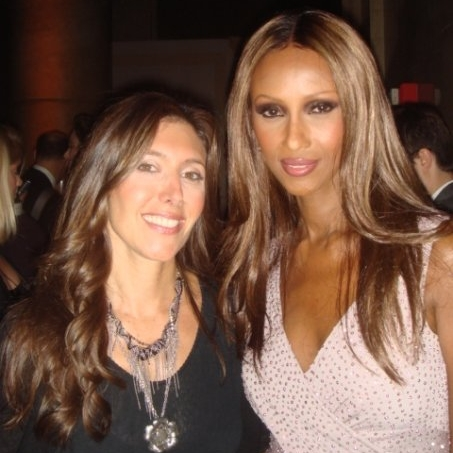 With Iman at Fashion Group International's Night of Stars.