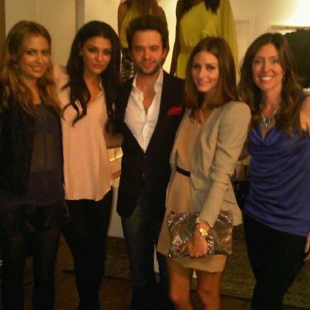 With friend, Jessica Szohr, Jay Godfrey and Olivia Palermo