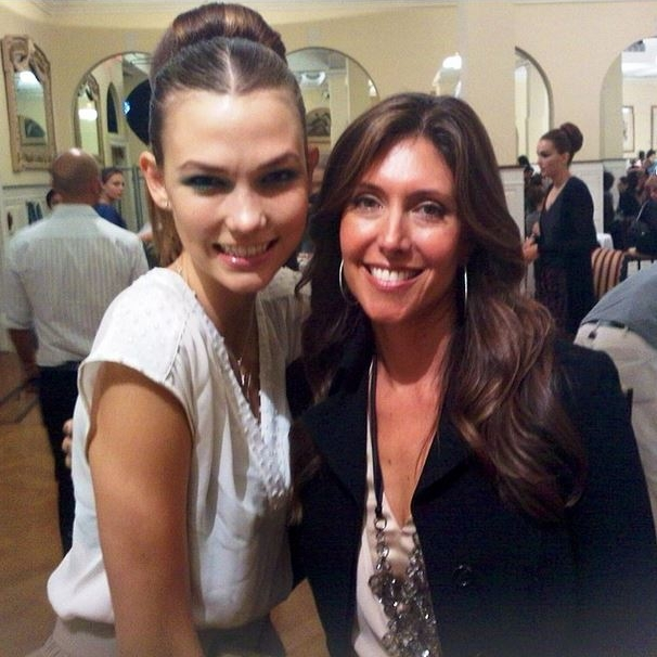 With the always fabulous Karlie Kloss before the Oscar de la Renta show