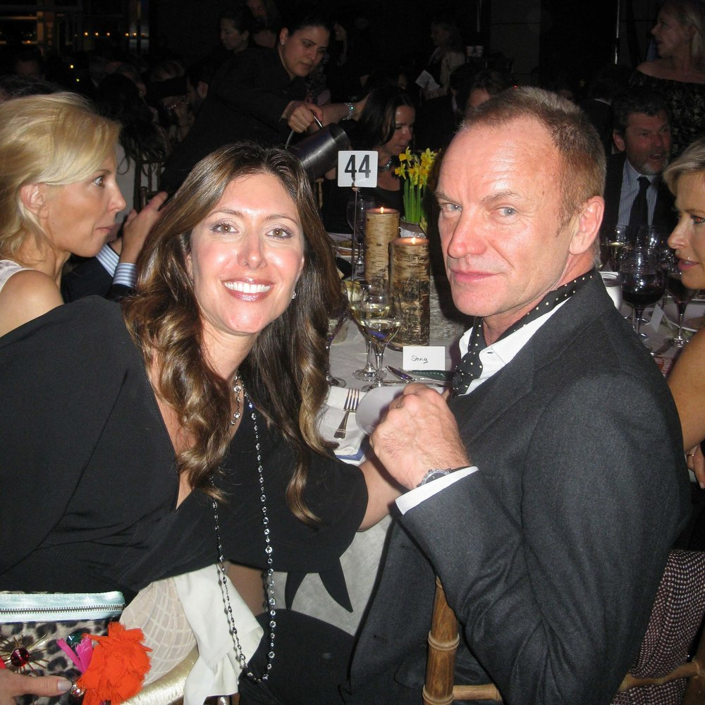 With Sting at Riverkeeper Event
