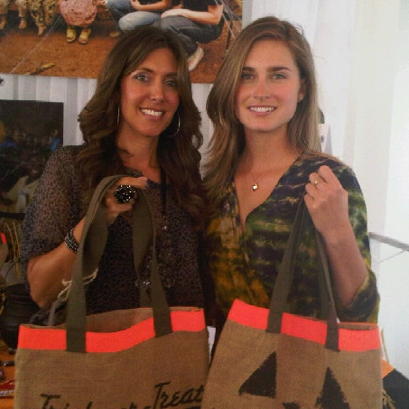 with Lauren Bush at FEED event