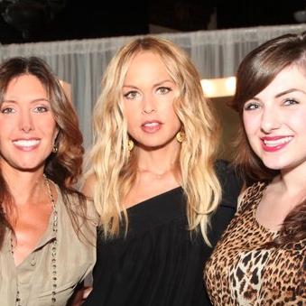With Rachel Zoe and Caitlin Osborne.