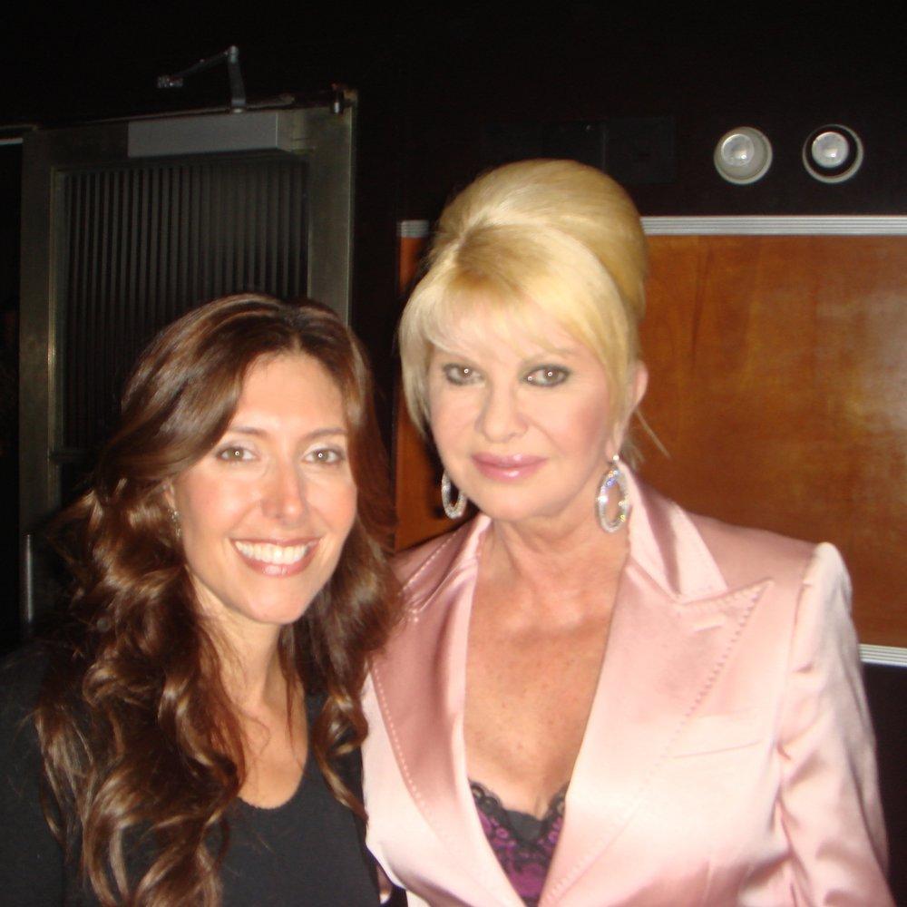 With Ivana Trump at Art Basel Miami.