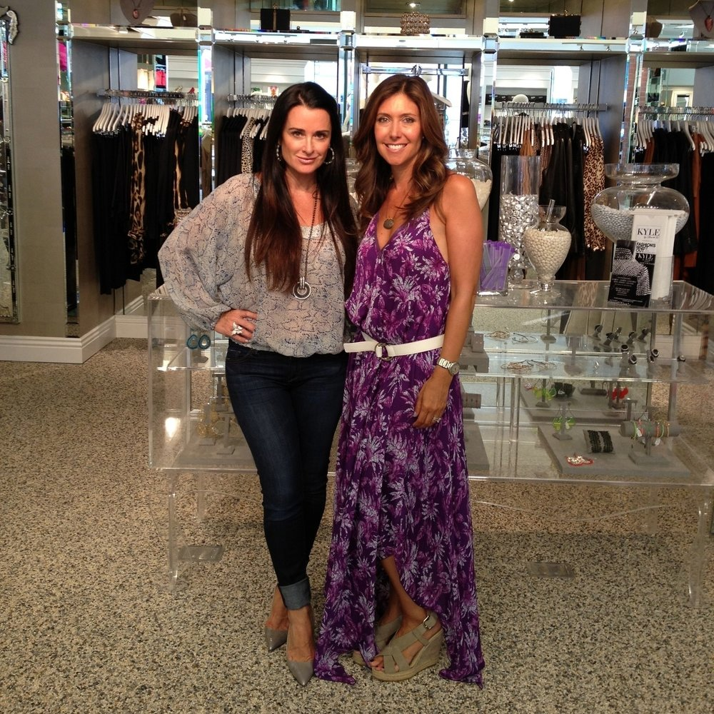 WIth Kyle Richards in Beverly Hills at her fab store Kyle and Arlene Too!