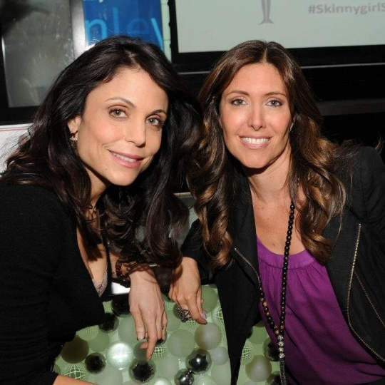 With Bethenny Frankel at her body wear launch event