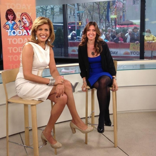 With Hoda Kotb on the Today Show