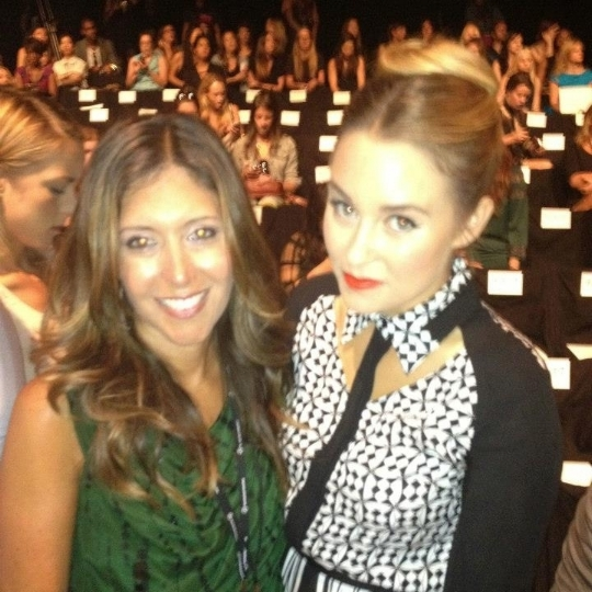 Front row with Lauren Conrad at Rebecca Minkoff