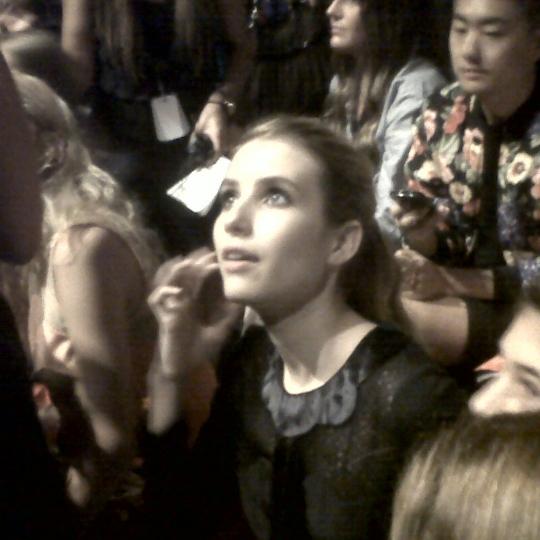 Emma Roberts front row at fashion week