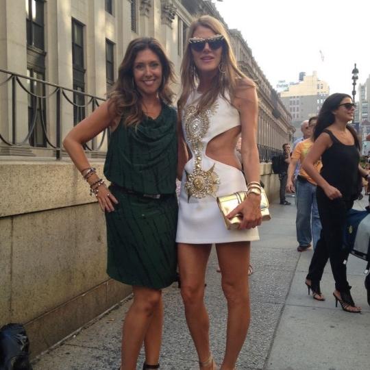With fashion icon Anna Dello Russo