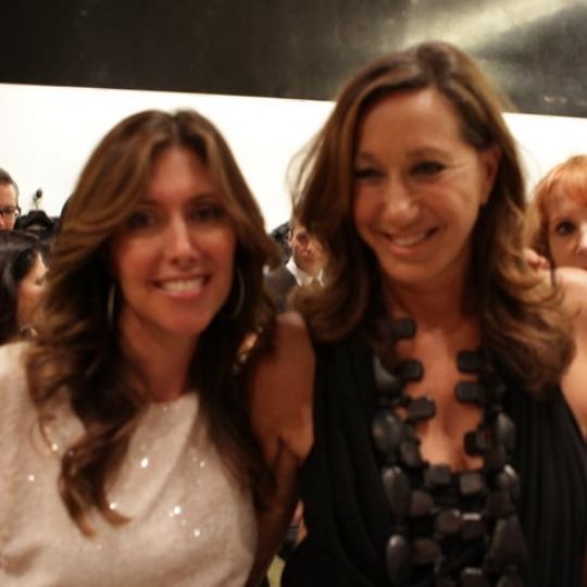With Donna Karan