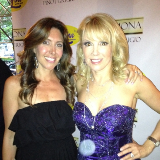 With Ramona Singer of the RHONY