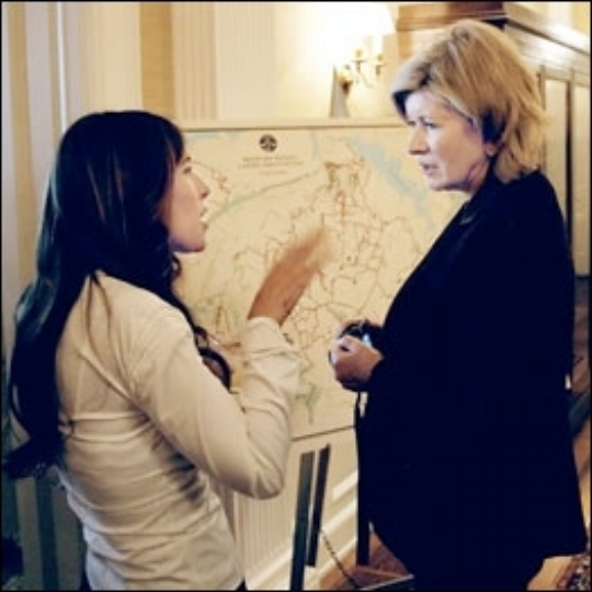 Chatting with Martha Stewart at an event in Westchester New York