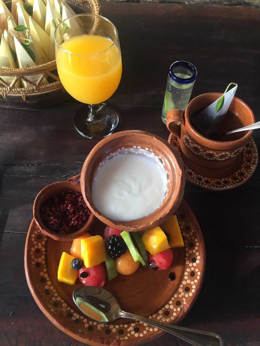 Breakfast at Hotel Nomad Tulum.