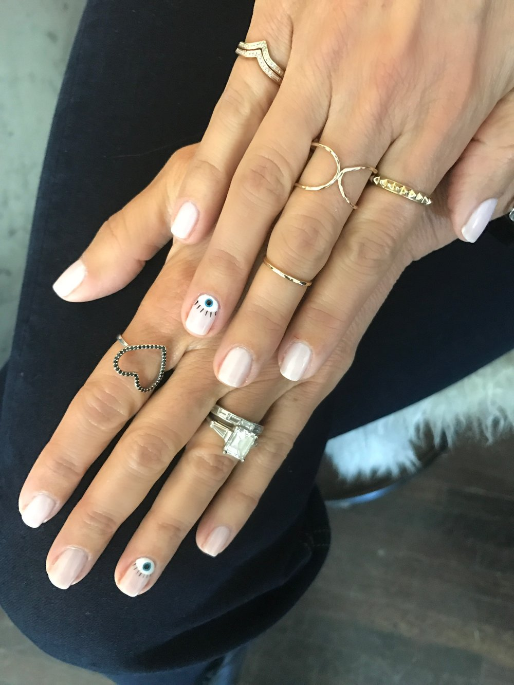 Melissa Meyers + Glamsquad nail art - Mani Monday: Evil Eye Nail Art And The GLAMSQUAD (video) — The Glow