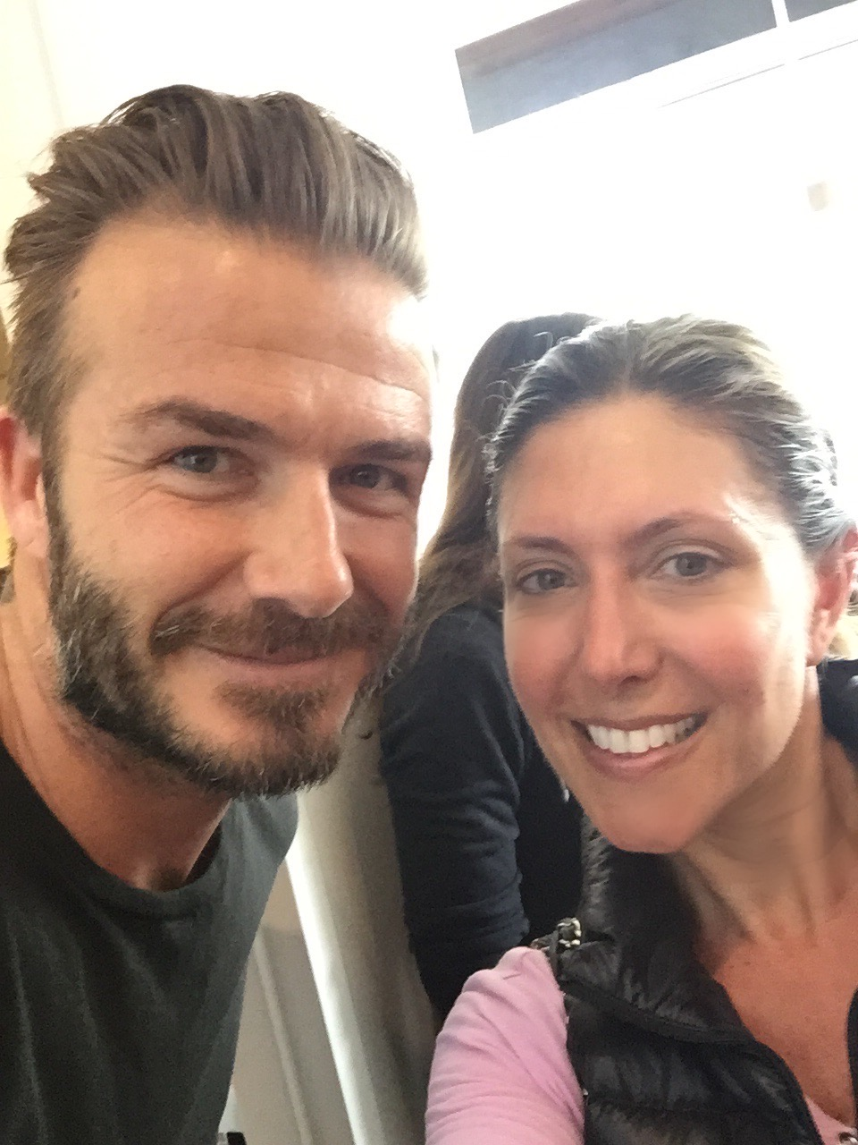 This made my day running into David Beckham, a  SoulCycle  regular  :)