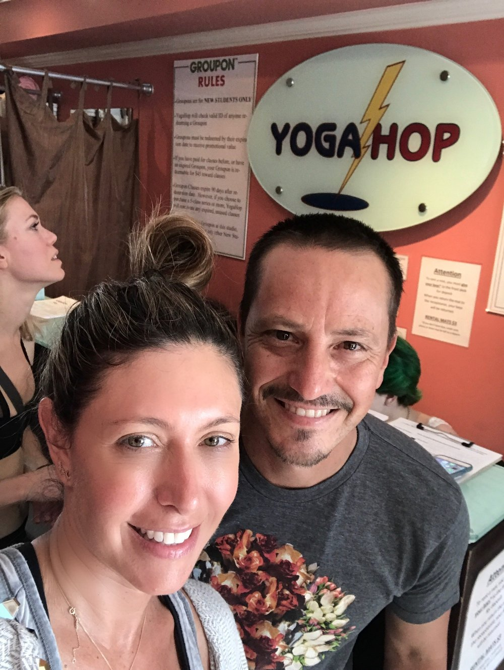 After class with  YogaHop  founder Matthew Reyes