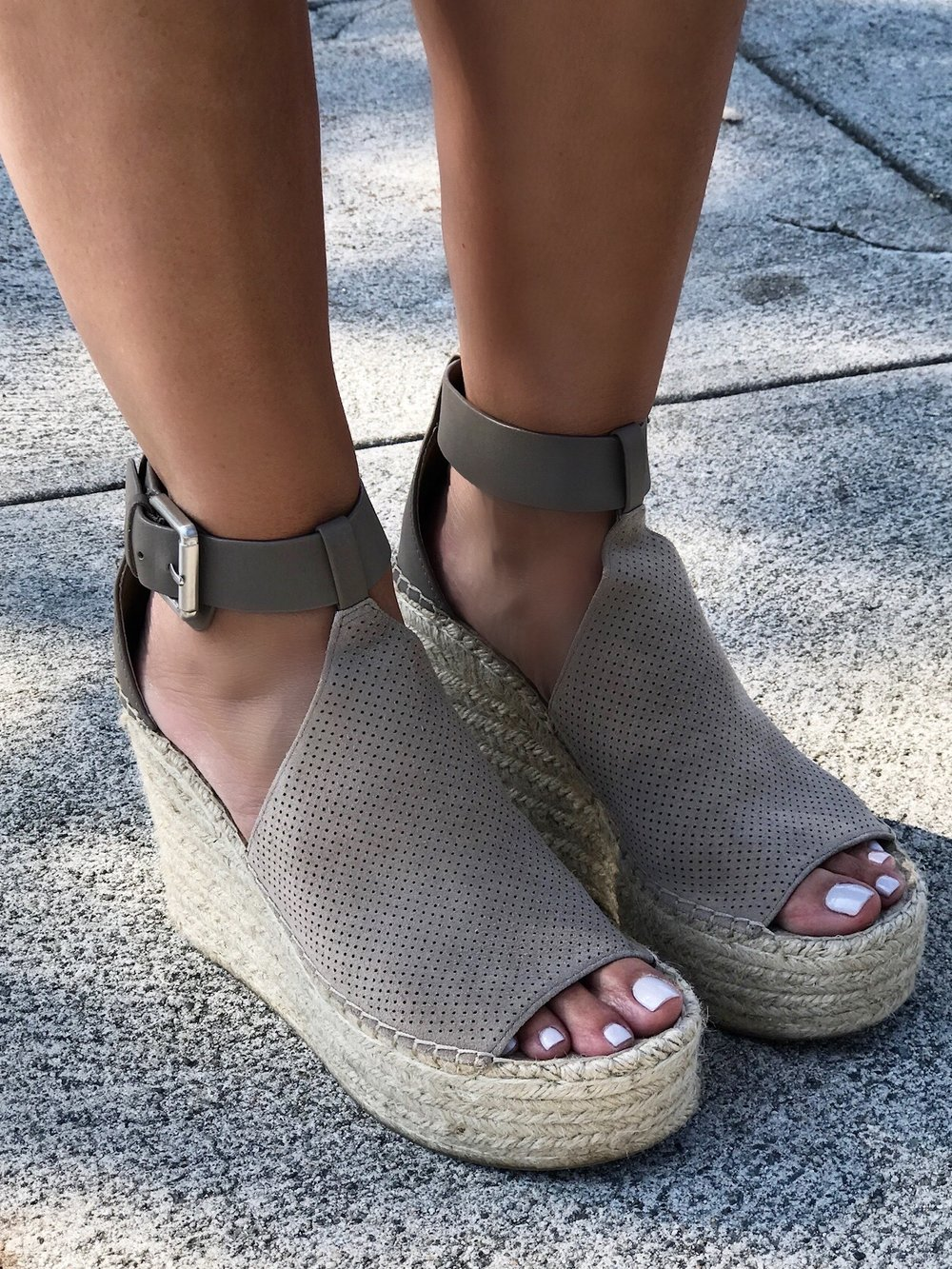 Melissa Meyers Neutral Wedge Shoe