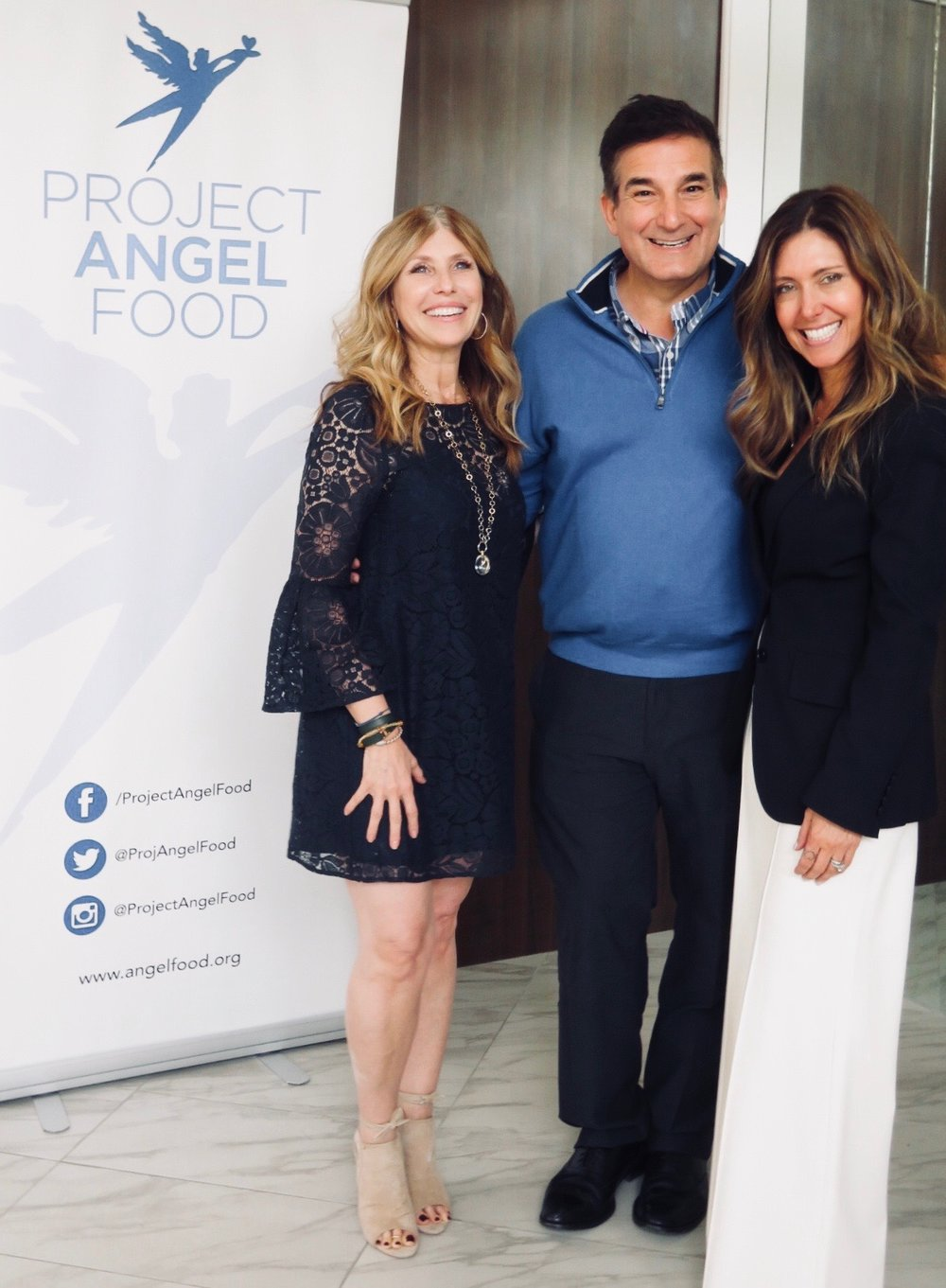 Linda Thompson & Richard Ayoub, Executive Director of   Project Angel Food