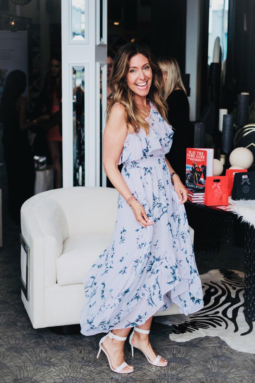 Wearing one of my favorite summer dresses by  MISA Los Angeles.