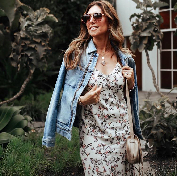 Dress:  Rag and Bone , Denim Jacket: RTA, Similar  here .