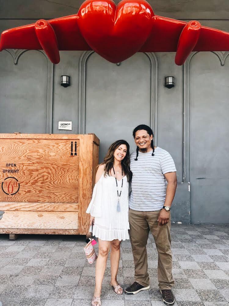 Melissa with artist  Esteria Segura