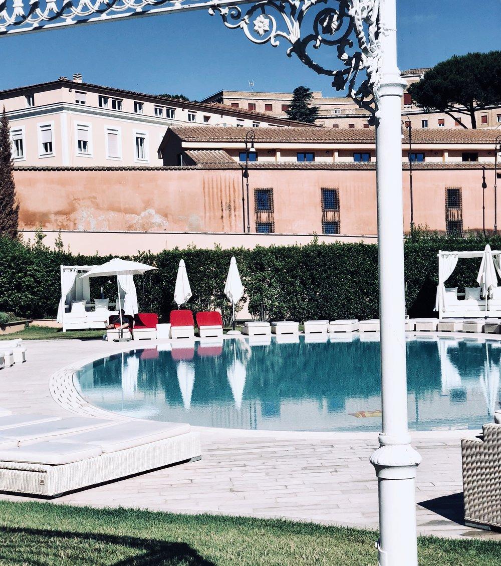 Poolside at the  Gran Melia Rome