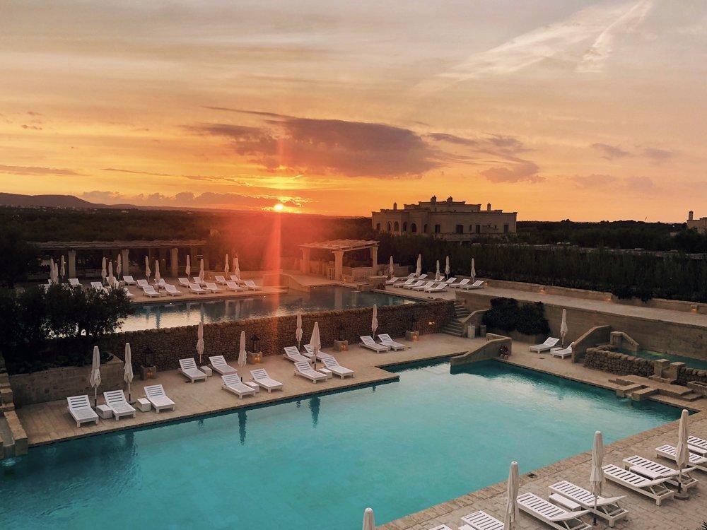 Sunset at  Borgo Egnazia